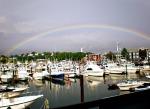 Rainbow over Cape Ann Marina, Gloucester, MA